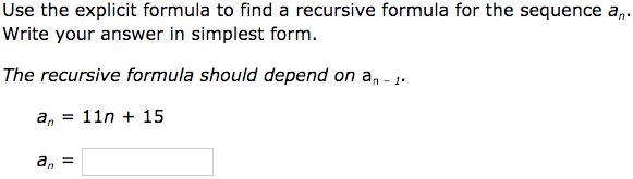IXL - Convert an explicit formula to a recursive formula ...